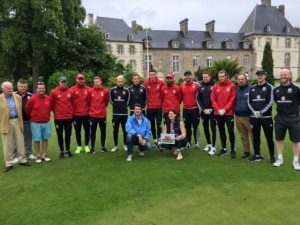 Wales football team visit Les Ormes